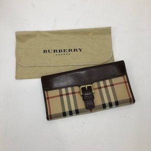 Burberry Haymarket Novacheck Continental Wallet
